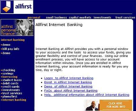 Allfirst Internet Banking