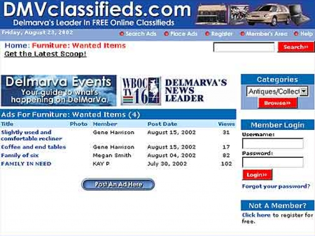 DMV Classifieds