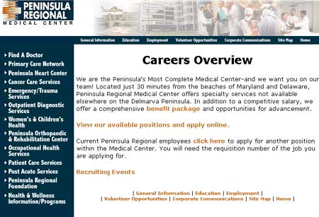 Peninsula Regional Medical Center