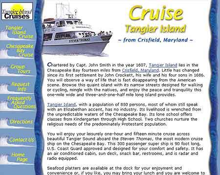 Tangier Island Cruises